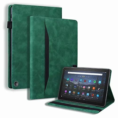 Funda para tablet Fire HD 10 (11ª generación 2021) y Fire HD 10 Plus - Funda protectora de piel sintética con Smart Auto Sleep/Wake, color verde