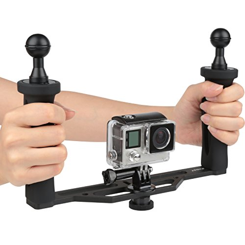 D&F Hand Grip Aluminum Alloy Stabilizer Gimbal for DSLR Camera Action Camera, Video Film Movie Making Kit for GoPro Hero 8/7/6 Canon Nikon Pentax Sony...