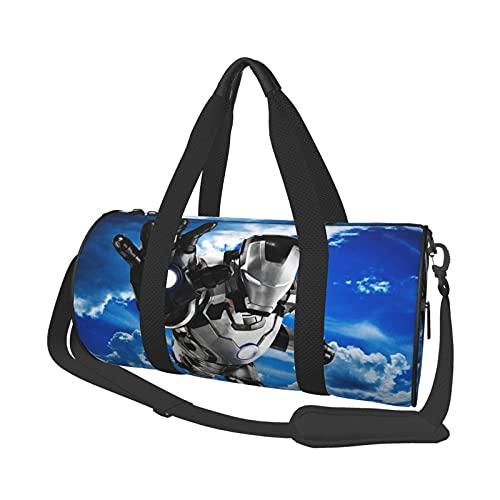 Iron Man Round Travel Bag Lightweight Multipurpose Sports Fitness Bags Duffel Bag Men and Women Universal 3D Printing Personalized Customization