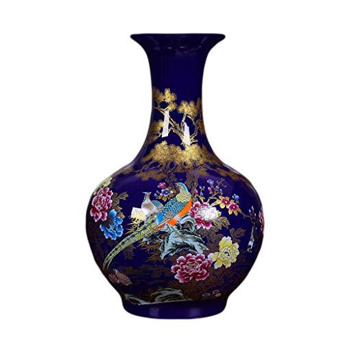 GAOYINMEI Vase Couchtisch Vase Antique Keramik Pfingstrose Große Bodenvase Blumengesteck Chinesisches Wohnzimmer Dekorationen Ornament Dekorationen
