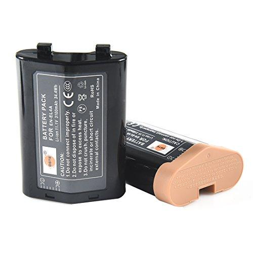 DSTE 2-Pieza Repuesto Batería Compatible para Nikon EN-EL4 EN-EL4A D-SLR D3x D3 D2Xs D2X...