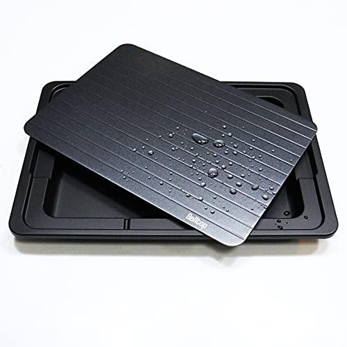 Belltop - Bandeja de descongelación rápida, placa para descongelar alimentos sin electricidad con depósito de goteo