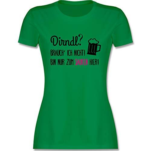 Oktoberfest & Wiesn Damen - Dirndl? Brauch' ich Nicht! - XXL - Grün - Tshirt Dirndl brauch ich Nicht - L191 - Tailliertes Tshirt für Damen und Frauen T-Shirt