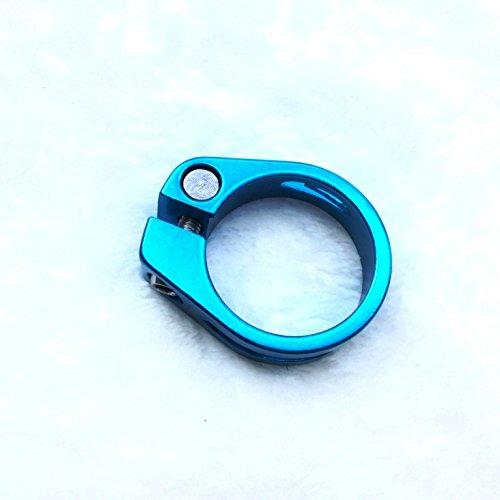 Abrazadera de sillín de bicicleta de CarbonEnmy de aluminio, 34,9 mm (azul)