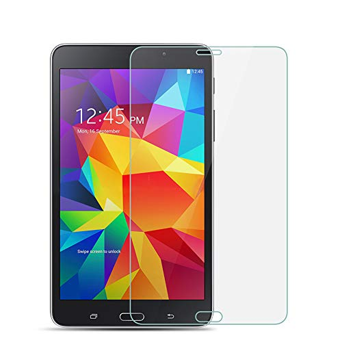 KIQ Galaxy Tab 4 7.0 Tempered Glass Screen Protector 0.30mm 9H case-friendly self-adhere easy to install with cleaner cloth for Samsung Galaxy Tab 4 7-inch T230