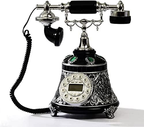 CWZY Classic Europeo Retrò Telefono Fisso Europeo Antico Moda Casa Telefono Retrò Alto - End Creativo Pastorale Corda Telefono Antico