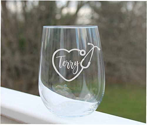 Copas de vino personalizadas sin tallo para lactancia, copas de vino grabadas, regalo de enfermería