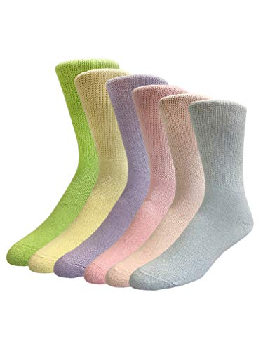 Diabetic Socks 6 PRS Non Binding Won't Limit Circulation Neurological discomfort (9-11, Multicolor)
