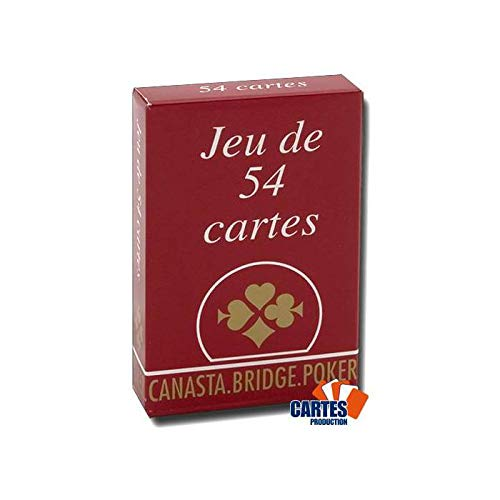 Jeu de 54 Cartes: Gauloise Rouge by Cartes Production / Poker Production