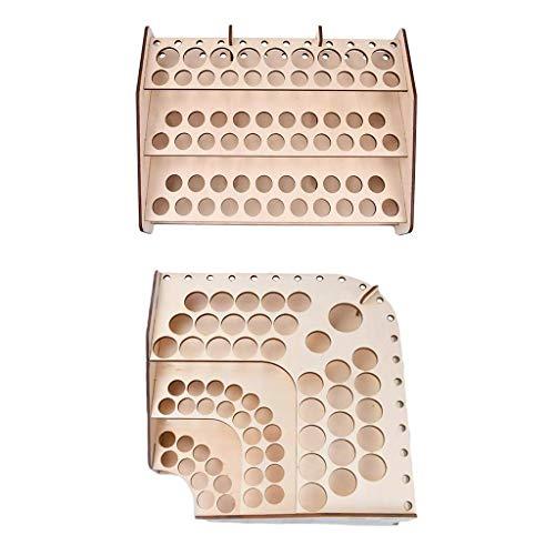 NON Sharplace 2 Piezas Estante de Almacenamiento de Pinturas de Madera Rack Modelo Stand Hobby Parts