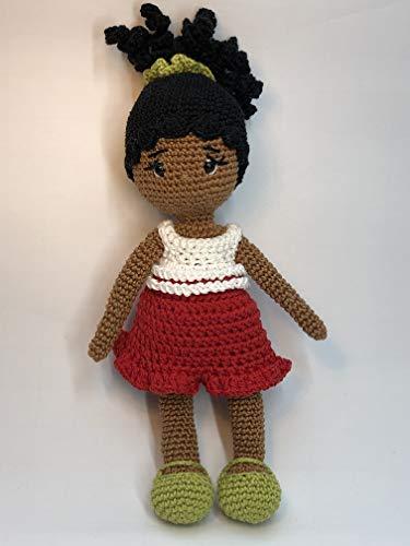 Peluche poupée 26cm crochet en coton pour enfant