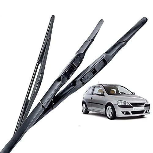 JHDS Limpiaparabrisas Cuchillas De Limpieza De Parabrisas Rápidas Y Limpias para Opel para Corsa C Hatchback 2000 2001 2002 2003 2004 2005 2006 Frontal Wiper Trasero Visión Clara