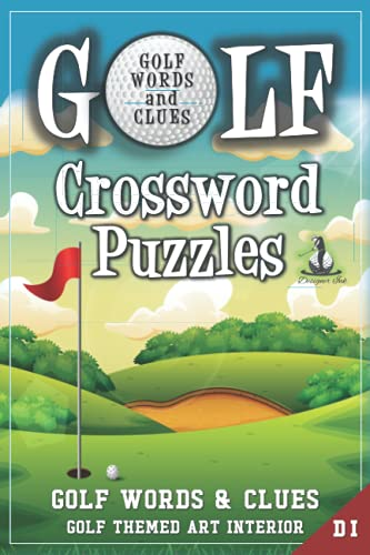 Golf Crossword Puzzles: Golfers, Courses, Terms, Legends. Golfing Sports Interior. Easy to Hard...