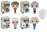 Funko POP TV Golden Girls Vinyl Figure Collectors Set – Sophia, Blanche, Rose, Dorothy Bundle with 4 PopShield Pop Box Protectors