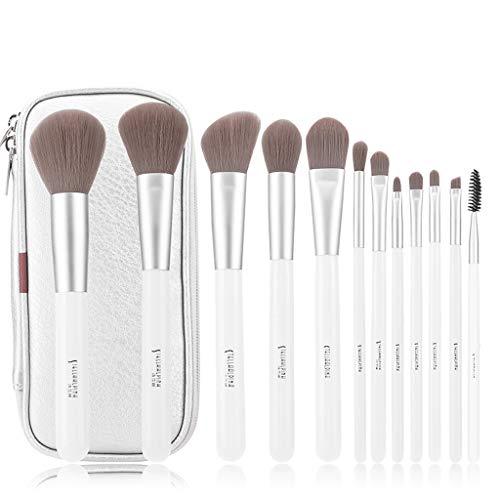 Pinceaux Maquillage 12pcs ensemble de brosse de mélange de brosse, fard à joues de base de fard à paupières Eyeliner de lèvre d'oeil