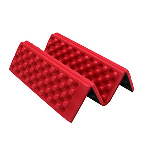 WINOMO Mousse Tapis de Pliable Genoux de Jardin Camping Randonnée Coussin Tapis Matelas de Sol (Rouge)