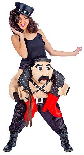 Das Kostümland Sado MASO Huckepack Kostüm - Lustiges XL Pick Me Up Aufsitz Kostüm für Karneval, Festival, Junggesellenabschied oder Mottoparty