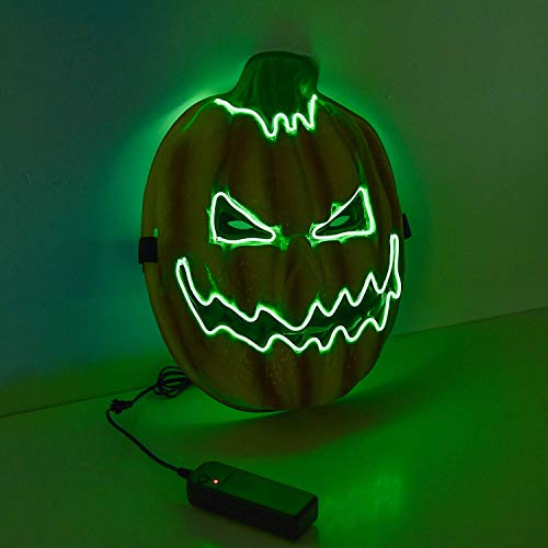 Charlemain Máscara de EL Wire de Calabaza de Halloween LED