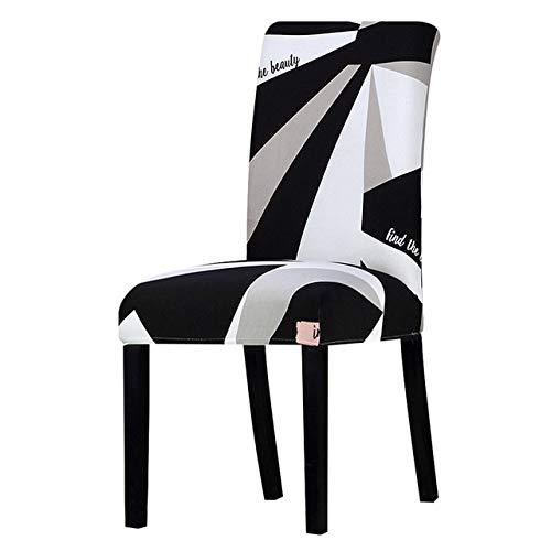 ZHYHAM Impresión que estira la cubierta de la silla del asiento elástico grande conjunto silla de oficina restaurante banquete hotel decoración del hogar