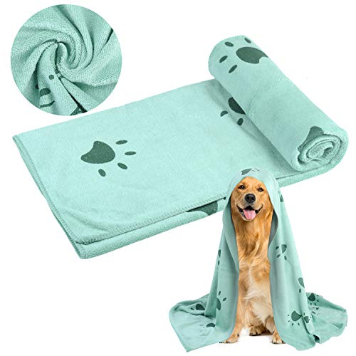 Pet Towel Paw Design Ultra-Absorbent Multi-Purpose Dog Towel Dog Bath Towel