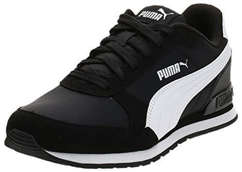 PUMA Unisex ST Runner v2 NL Jr Sneaker, Black White, 37 EU, Puma Black-Puma White