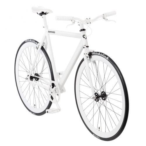 bonvelo Singlespeed Fixie Fahrrad Blizz Lightning White (Large / 56cm für Körpergrößen von 170cm bis 181cm)