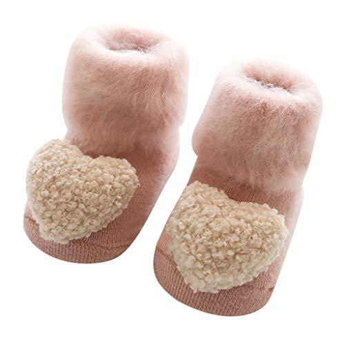 Fenverk 0-18 Monate Babysocken Dick Warm Baumwolle Babysöckchen Kindersocken Anti Rutsch Niedlich Tier Socken für Baby Jungen Mädchen