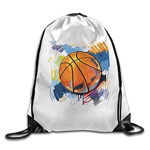 NA Gym Drawstring Bag Backpack Cartoon Art Basketball Halloween Unisex Gym Shoulder Bag String Bags