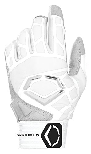 Wilson Sporting Goods Evoshield Youth Impakt 550 Batting Gloves, White, Large