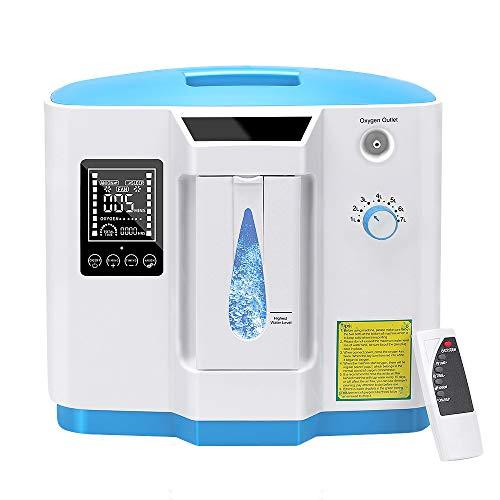 DEDAKJ Concentratore di Ossigeno, 1-7L/min il Flusso 30%-90% Regolabile Concentrazione Ventilatore Polmonare Portatile, DDT-1B