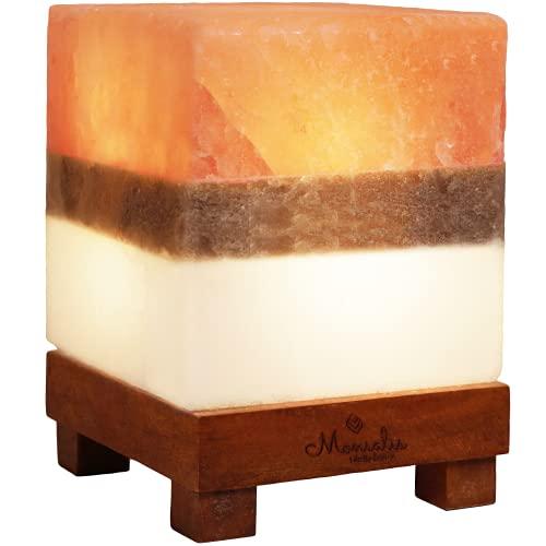 Monsalis Dual Illumination Salt Rock lamp - Modern...