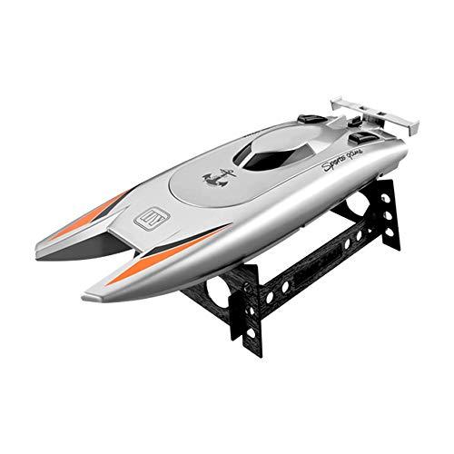 Moerc Barco de control remoto para piscinas, lagos y ríos, Barco RC rápido para adultos y niños 25km / h de alta velocidad RC Racing Boat 2ch Dual Motor 25mins Play Time Pools Racing Boat Toys Regalos
