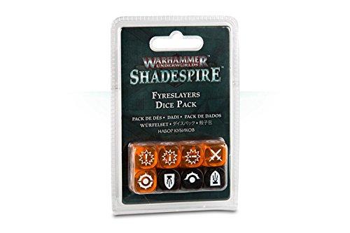 Warhammer Underworlds Fireslayers Dice Pack - Set Dadi Shadespire