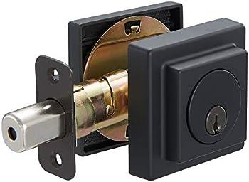 Amazon Basics Contemporary Square Deadbolt Door Lock