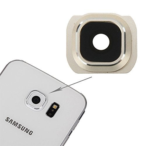 Compatibele Vervangings IPartsBuy for Samsung Galaxy S6 Back Camera Lens Cover Accessory (Color : Gold)