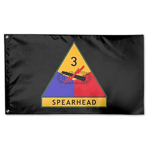 UDSNIS Army 3rd Armored Division Garden Flag 3 X 5 Flag For Holiday Seasonal Decor Banner Black