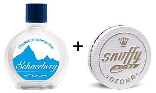 Pöschl Tabak GmbH & Co. KG SCHNEEBERG Weiss Snuff, 10g + OZONA Snuffy Weiss, 6g (Schnupfpulver)