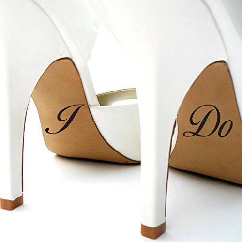 Susie85Electra Calcomanías para zapatos de novia con texto en inglés 'I Do Wedding Shoes', para regalo de boda