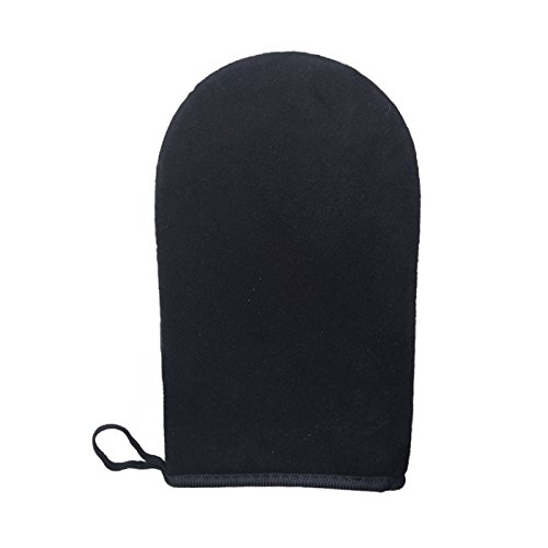 Skinerals Padded Microfiber Self Tanner Applicator Mitt, Premium Skincare Gloves, Black