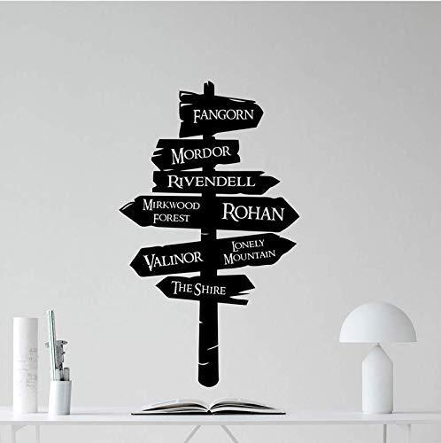 El Señor De Los Anillos Etiqueta De La Pared Tolkien Road S