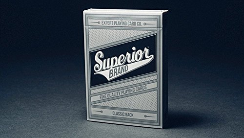 Superior (Black) Playing Cards by Expert Playing Card Co - Kartenspiel - Zaubertricks und Props