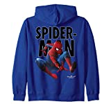 Marvel Spider-Man Homecoming Outlined Jump Pose Zip Hoodie