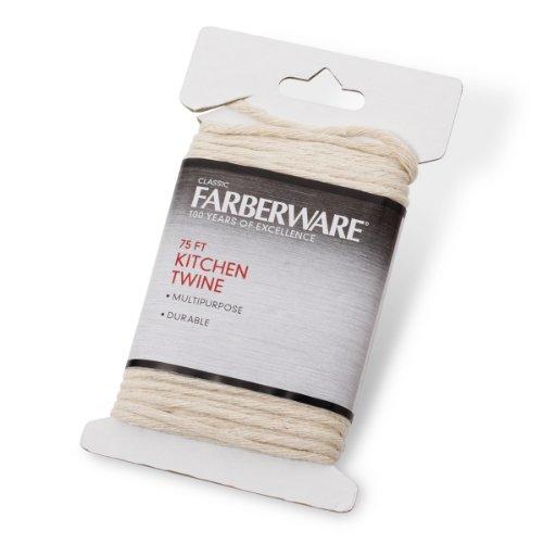 Farberware 5081722 Classic Kitchen Twine, 75-Feet, Small, White