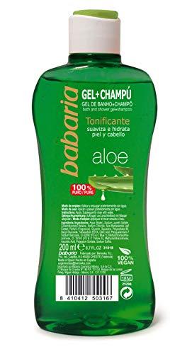 Babaria, Champú Aloe Vera, 31018Bab, Verde, 200 Mililitros