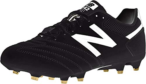 New Balance Men's 442 Team FG V1 Classic Soccer Shoe, Black/White, 11 D US