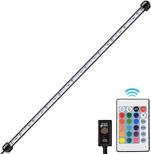 NICREW RGB LED Acquario, Lampada Acquario Multicolori, Luce Acquario a Tubo Impermeabile e Sommergibile