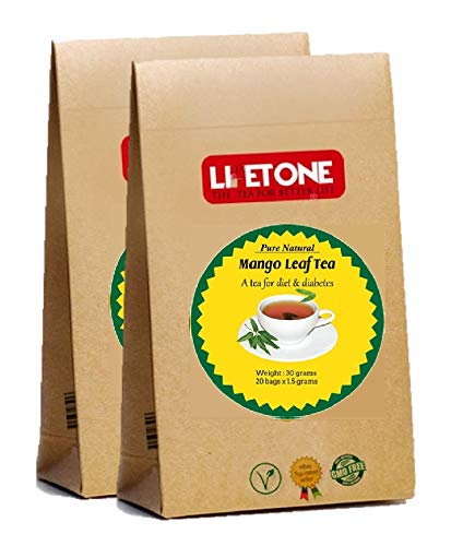 Mango-Blatt-Tee | 100% natürliche Kräuterergänzung | 40 Teebeutel | Köstlicher grüner Blatt-Tee | Natürlicher Detox Tee | Diabetischer Tee
