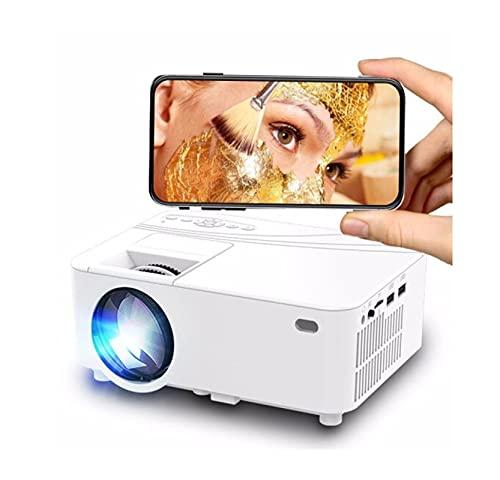 Vibiu Mini Full HD Mini Portable Wireless 3D Home Theatre No Screen TV Office Mini Mini Proyector Adecuado para Conocer la Oficina en casa