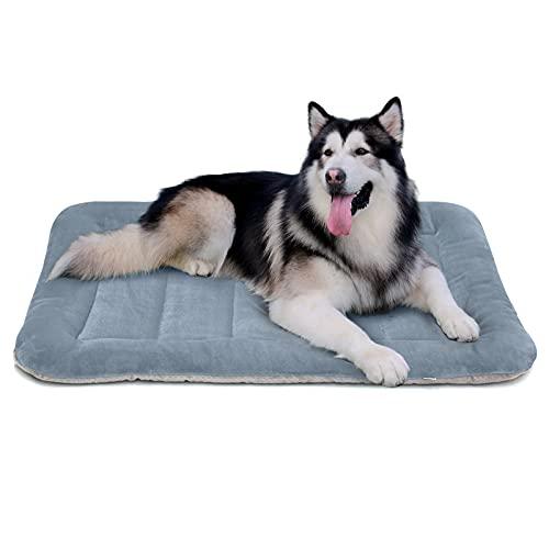 Hero Dog Large Dog Bed Crate Pad Mat 47 Inch Washable Matteress Anti Slip Cushion for Pets Sleeping