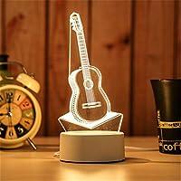 置物 3D LEDナイトライトテーブルランプLEDライト創造的な子供の寝室の装飾クリスマスプレゼントの装飾家 置物 (色 : Light Yellow)
